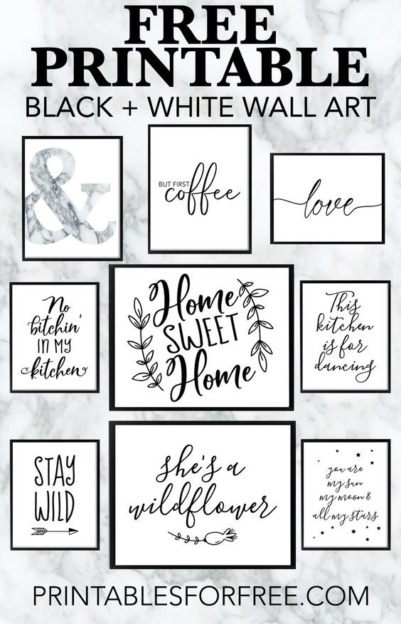 Printable Wall Art - Printable wall decor and post