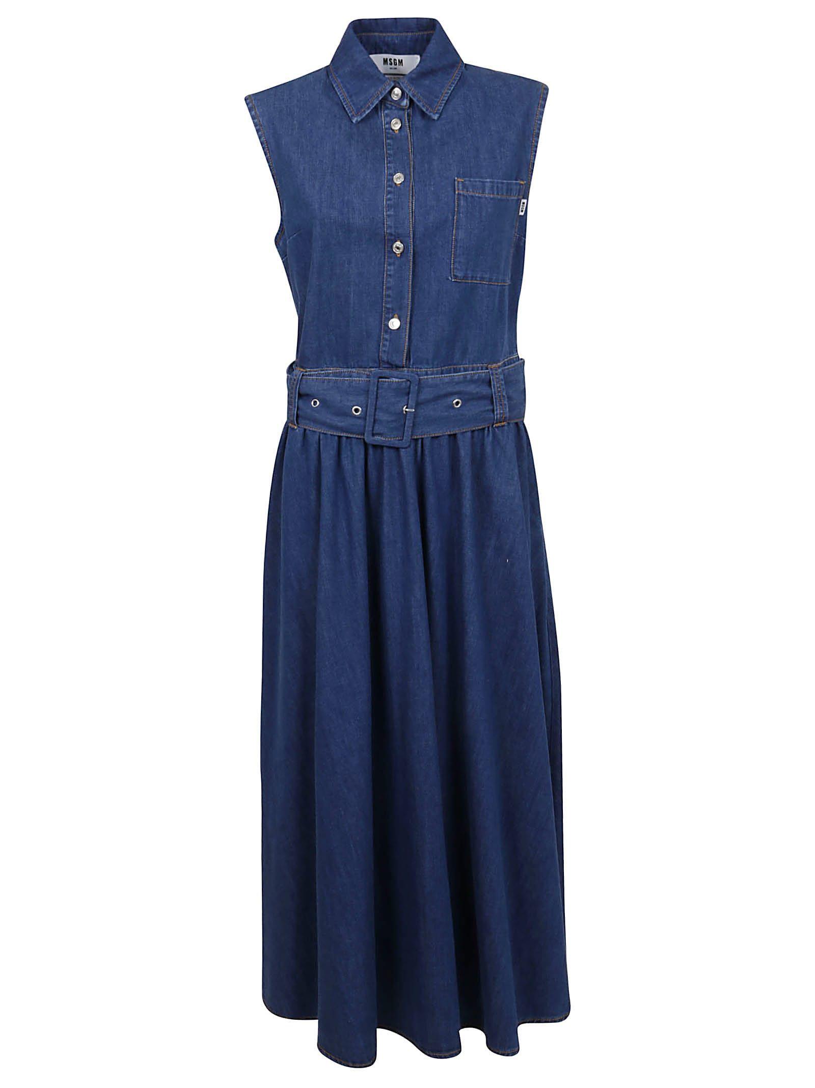 MSGM Abito In Denim/denim Dress from MSGMComposition: 100% Co