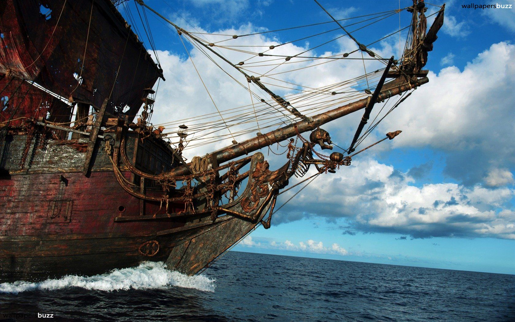 Fantasy ship cliff jolly roger pirate ship rock lightning wallpaper - Pirate Ship Pirate Ship Hd Wallpaper