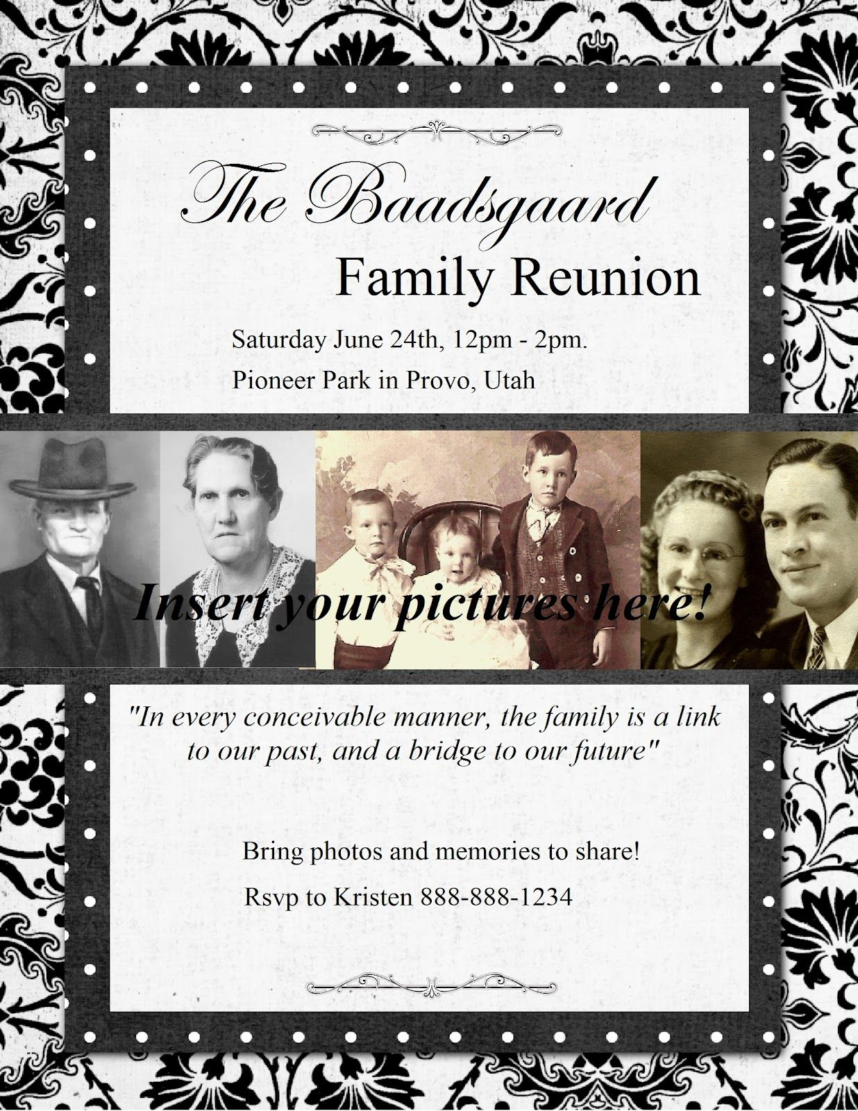 Heritage Collector Storybook: Family Reunion Flyers, invitations and ...