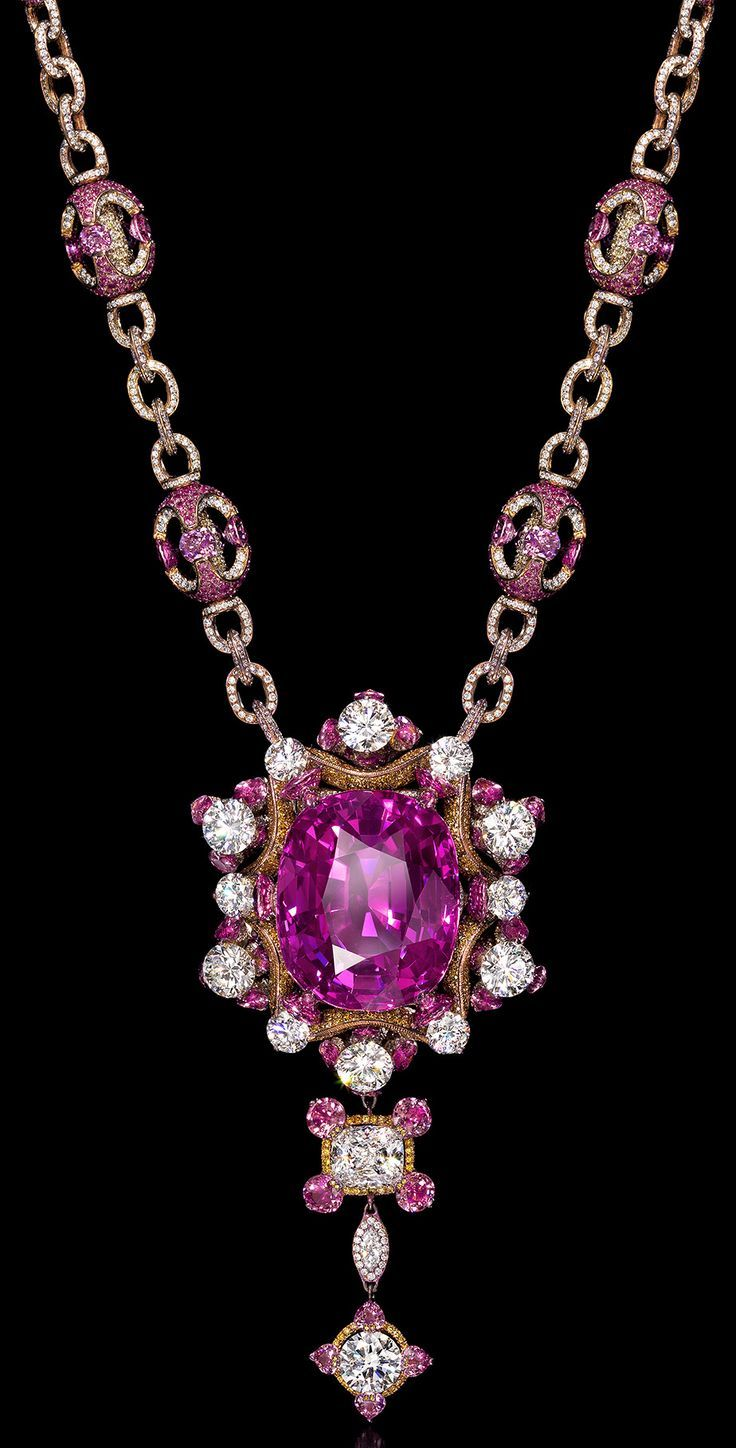 Wallace chanus gabriella rose necklace diamonds and rubies set in
