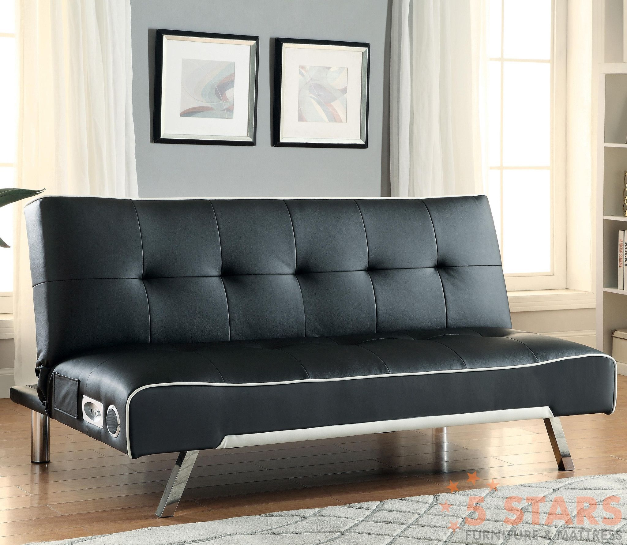 sofa beds and futons - sofa bed with built-in bluetooth speakers