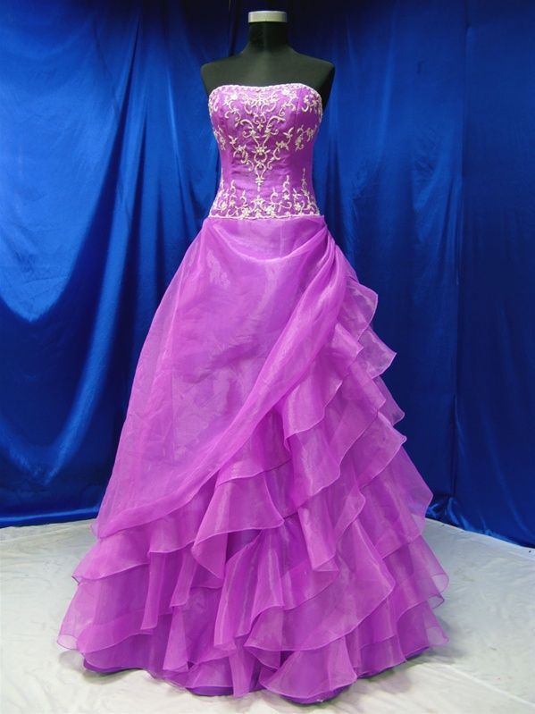 Wedding dress purple