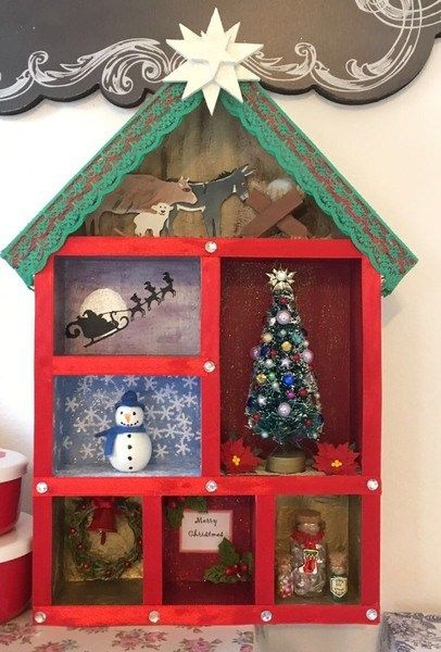Box Decorations Christmas Shadow Box Decoration  Christmas Shadow Boxes Box