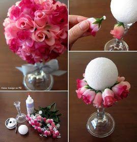 Fake flower bouquet