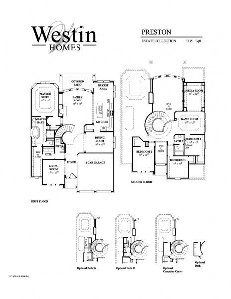Floorplan the preston westin homes westin homes for Westin homes floor plans
