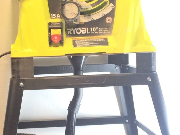 I needed a way to collect the sawdust shooting out of my ryobi table i needed a way to collect the sawdust shooting out of my ryobi table saw so greentooth Choice Image
