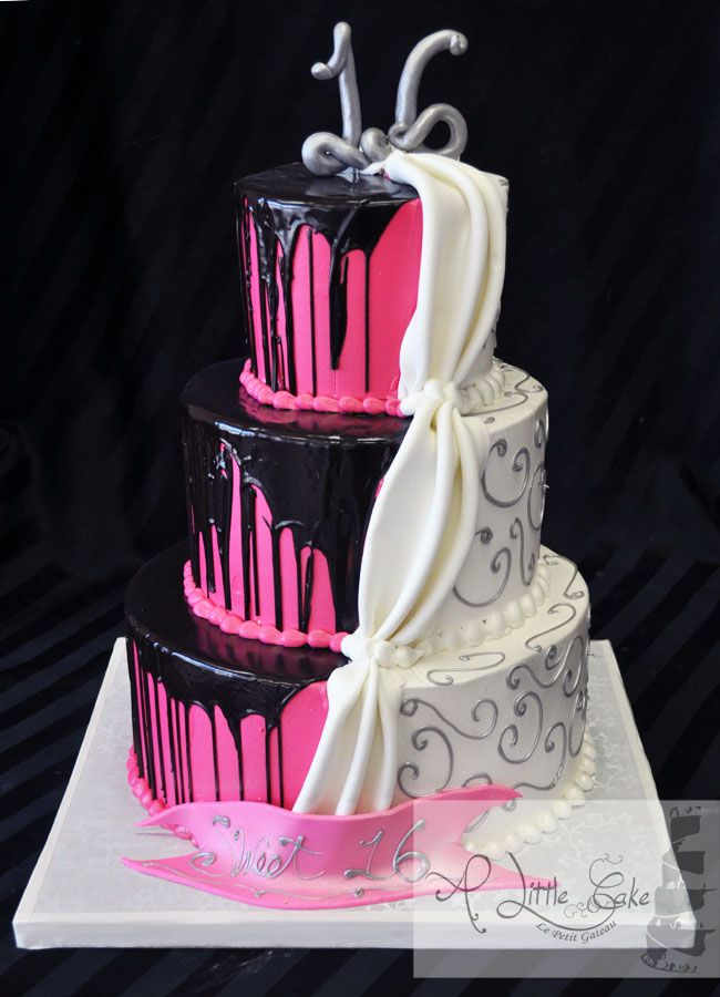 Animal Print Sweet 16 birthday Cake Sweet sixteen cakes Sweet