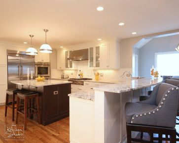 Open and Inviting - traditional - kitchen - chicago - The Kitchen ...