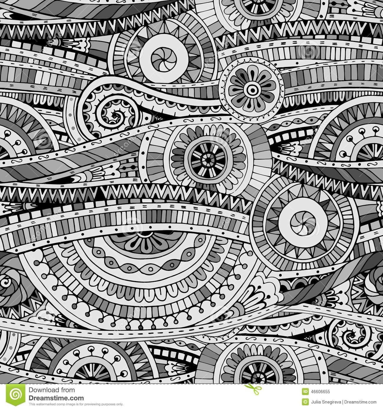 tribal patterns black and white drawing