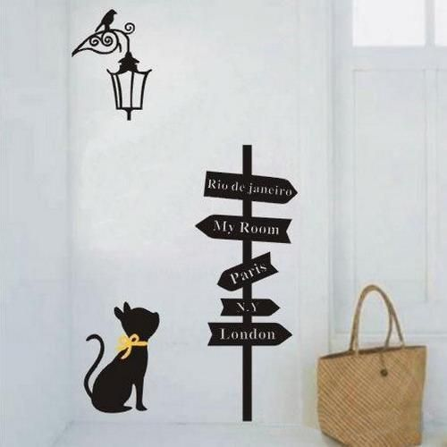 25 Fun Ideas For Furniture And Wall Decorating With Black Cat Images