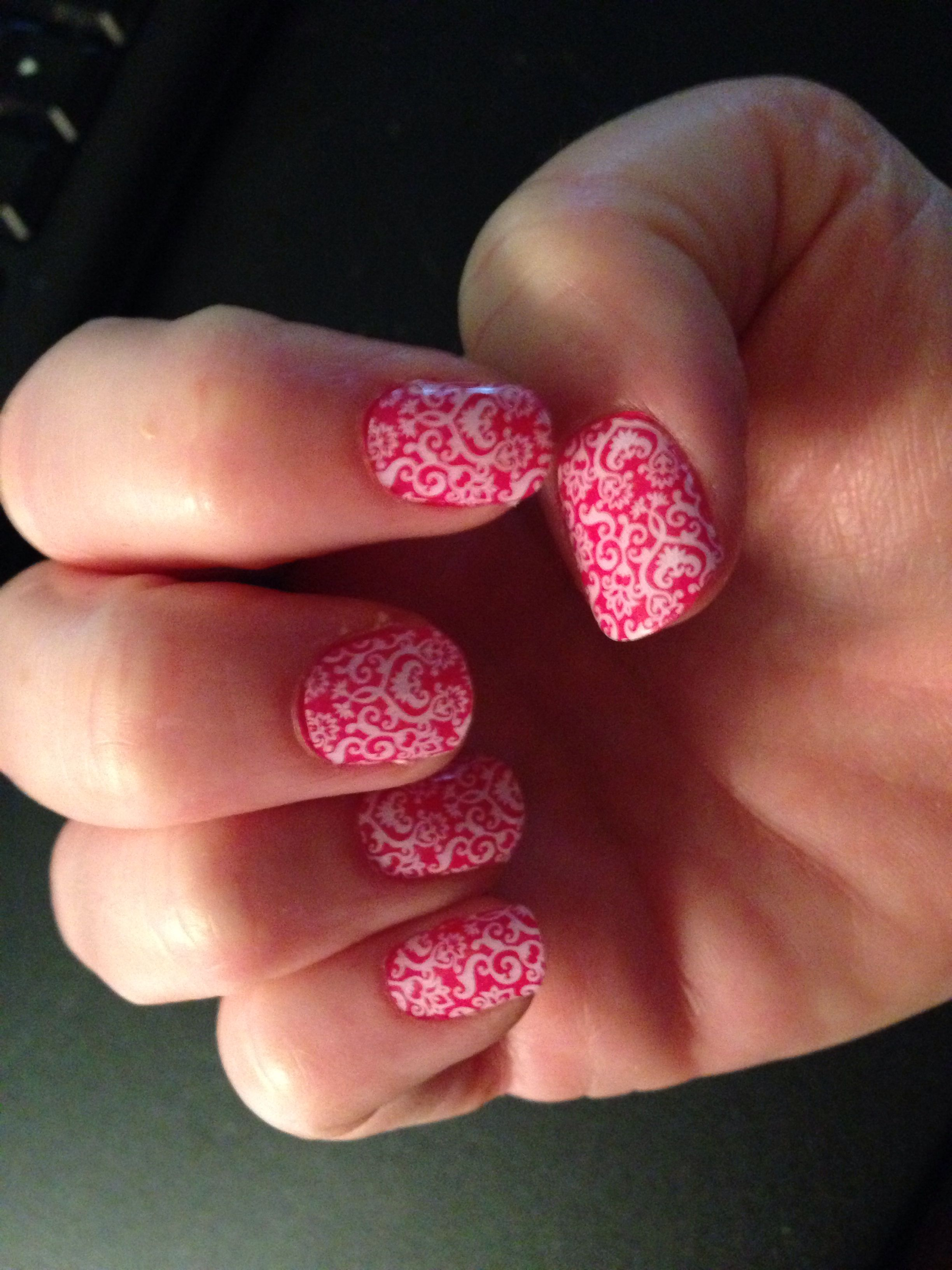 Jamberry Nail Wraps White Romance over Kiss Nail Lacquer...Such a ...