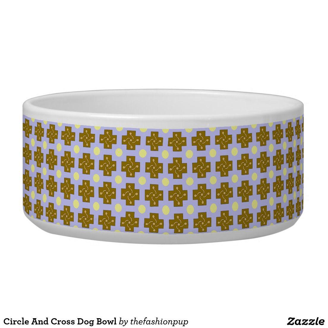 Circle and cross dog bowl dog bowls dogs