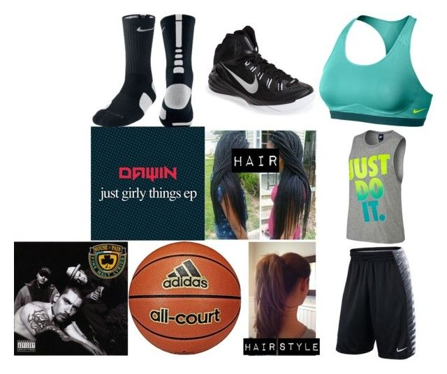 """""""Practicing Basketball"""" by msmarvelmusic ❤ liked on Polyvore featuring NIKE and adidas"""