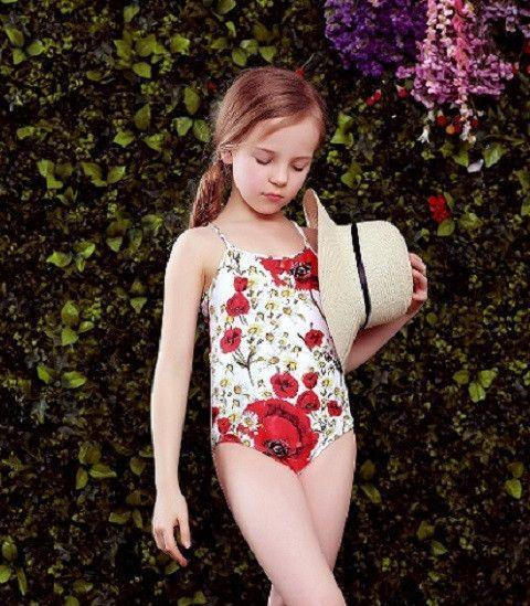 3d49b512d6 Girls Swimwear 2016 Summer Toddler Bathing Suit Kids One Piece Swimsuit  Girls Toddler Swimwear Floral Print Kids Swimwear Bikini