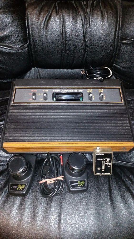 Atari 2600 Bundle W Original Tv Rf Switch Box Paddle Controller Atari The Originals Atari Ebay