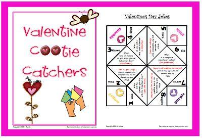 Valentine's Day Cootie Catchers - freebie