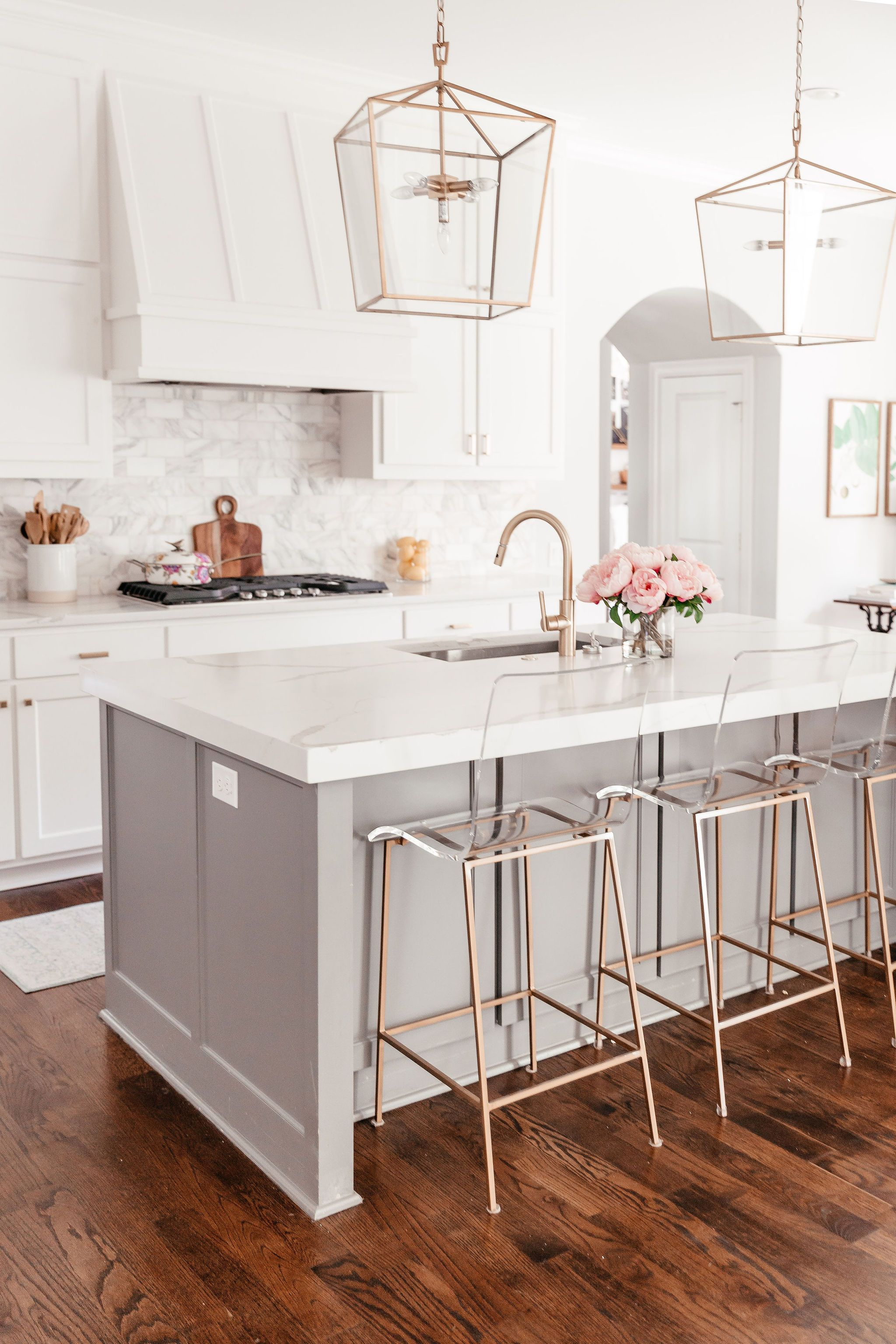 All About My Dallas Home In 2020 Acrylic Bar Stools Bar Stools Kitchen Island Kitchen Design