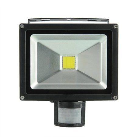 amzdeal® 10W 20W 30W 50W LED projecteur extérieur  intérieur noir spot avec  détecteur de 67481814e40