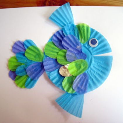 25 Under The Sea Crafts For Kids Paper Fish Cupcake