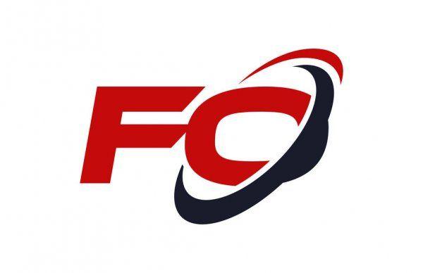 Fo Logo Swoosh Ellipse Konsep Vektor Huruf Merah In 2021 Letter Vector Lettering Vector