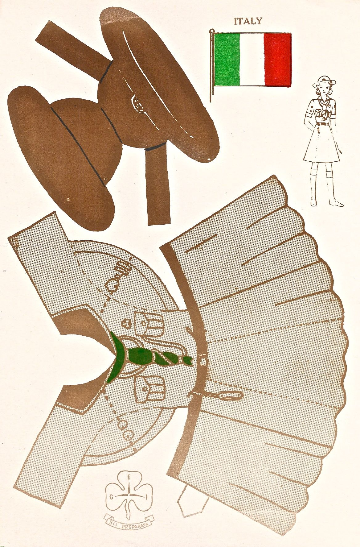 Ca Italian Girl Scout Uniform Available In A Set At