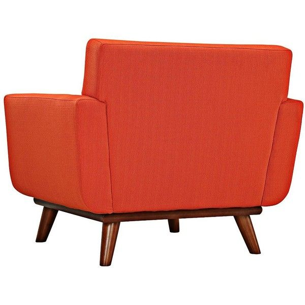 Universal Lighting And Decor Engage Atomic Red Tufted Modern Armchair (780  CAD) ❤ Liked
