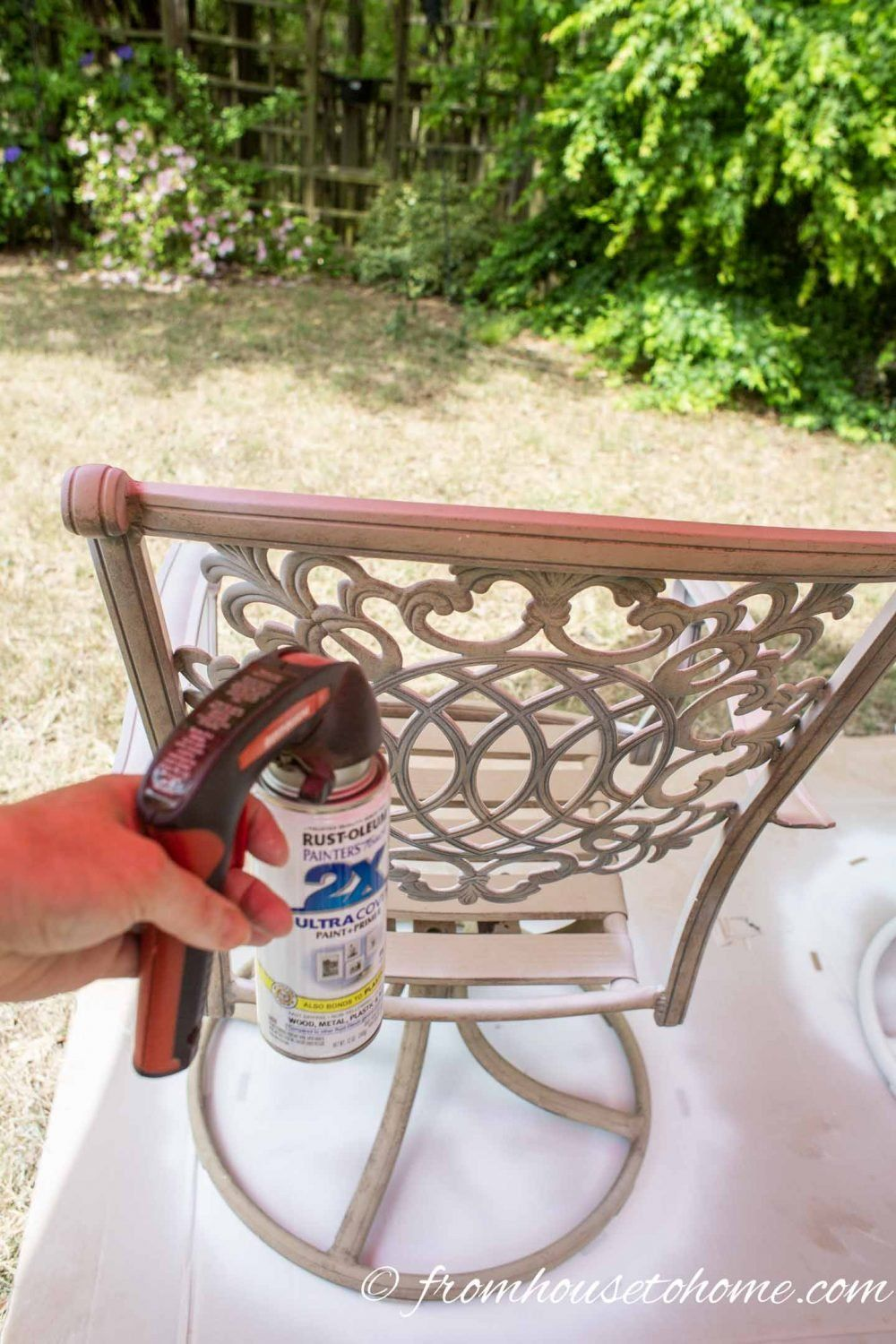 How To Paint Metal Patio Furniture Painting Patio Furniture