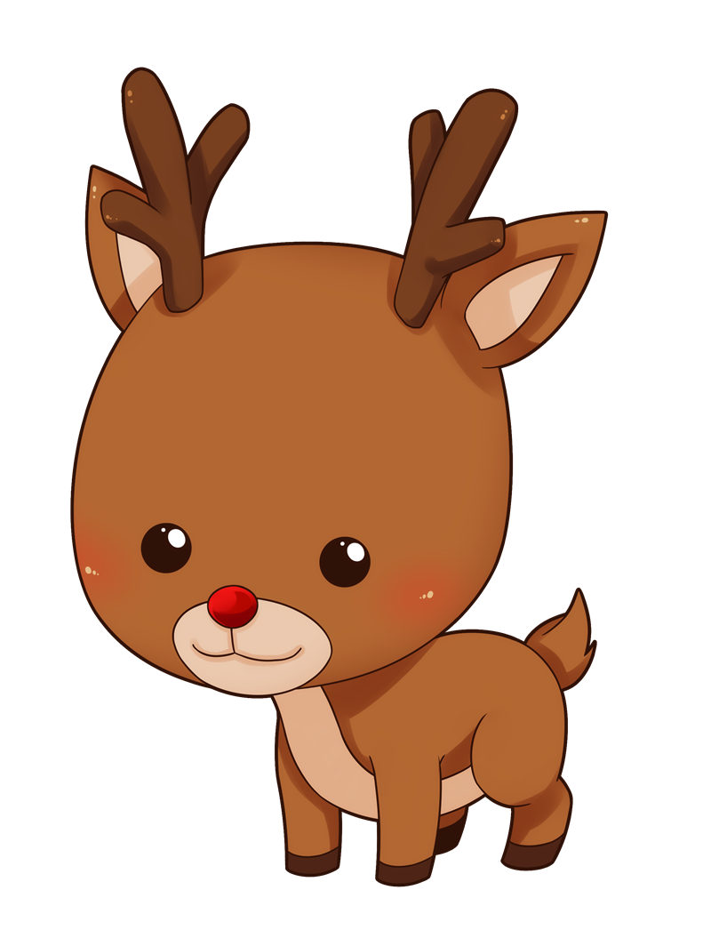This Cute And Adorable Baby Reindeer Clip Art Is Great For