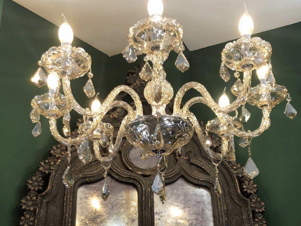Ricambi Plafoniere Vetro : Catena braccio gocce e foglie pezzi di ricambio per lampadari