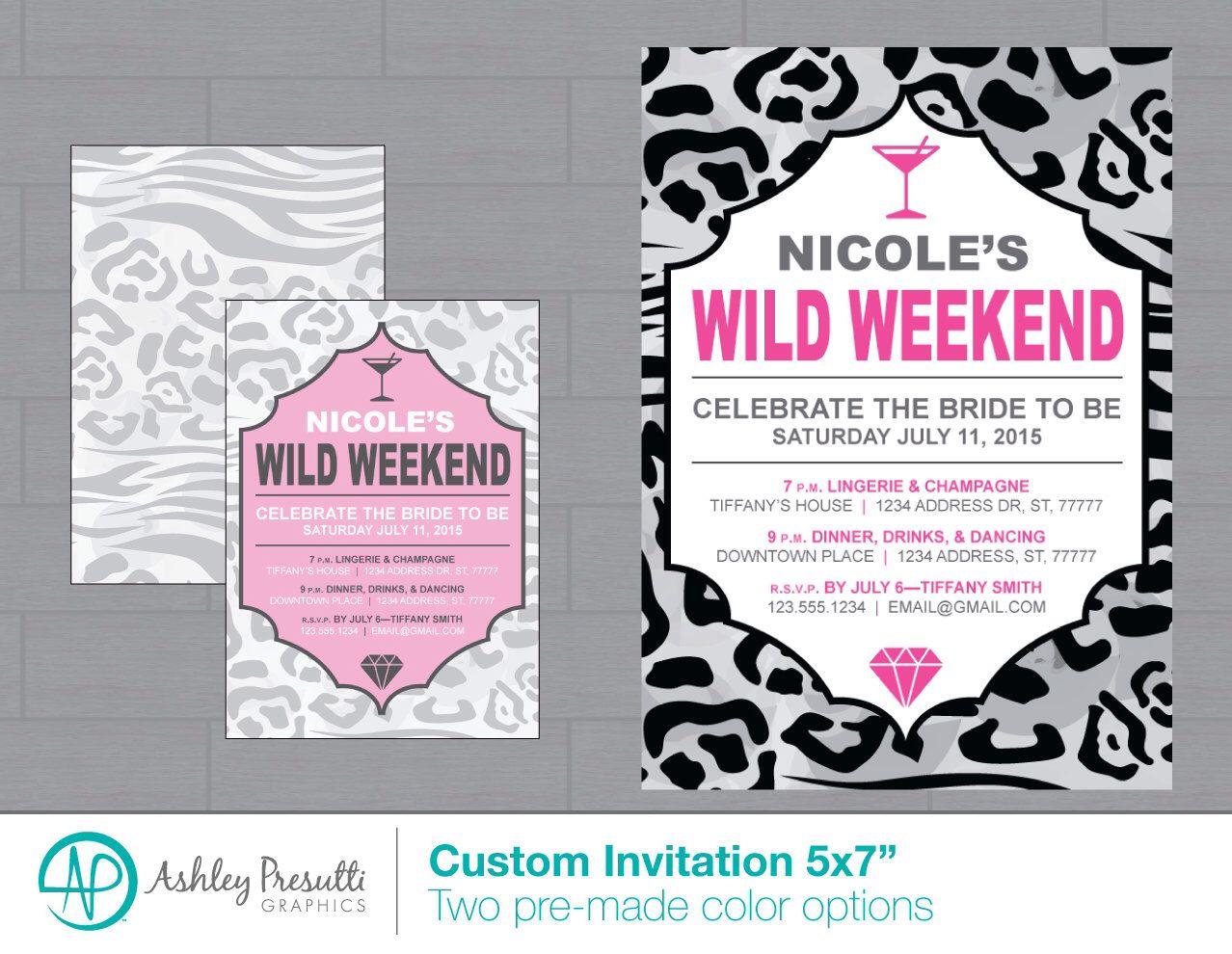 Wild Animal Leopard Print Bachelorette Party Invitation—Ladies Night ...