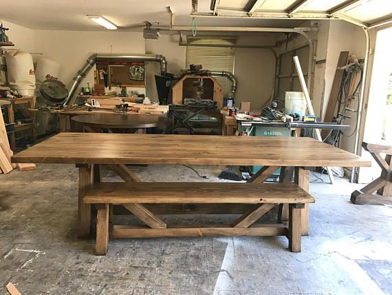 Solid Wood Handmade Beam Base Dining Table Solid Wood Table Dining Table Solid Wood