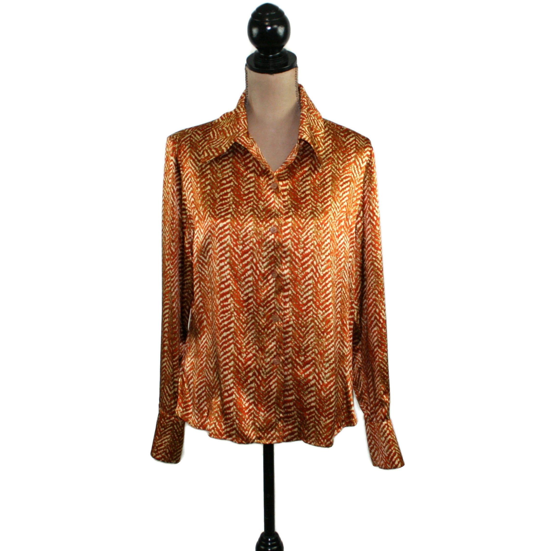 Vintage Women Velvet Top Short Sleeve Blouse Dark Color Abstract Velvet Skirt Medium Size