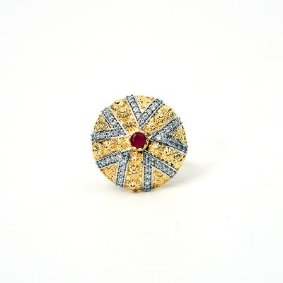 Man Made Diamonds (Cz) Ring From Meherma Creation Mehr0024 Rings on Shimply.com