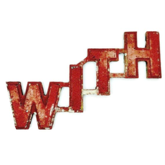 Vintage Metal Word Sign In Red Cast Aluminum With Wagner Movie Theater Signage Vintage Marquee Letters Metal Words Word Art Sign