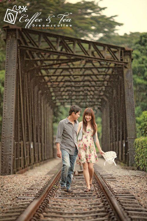 bukit timah railway track pre wedding photo shoot singapore parks
