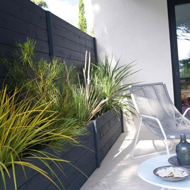 Lot de 4 planches fenceasy gris castorama ext rieur pinterest patio balcony et - Castorama espace jardin creteil ...