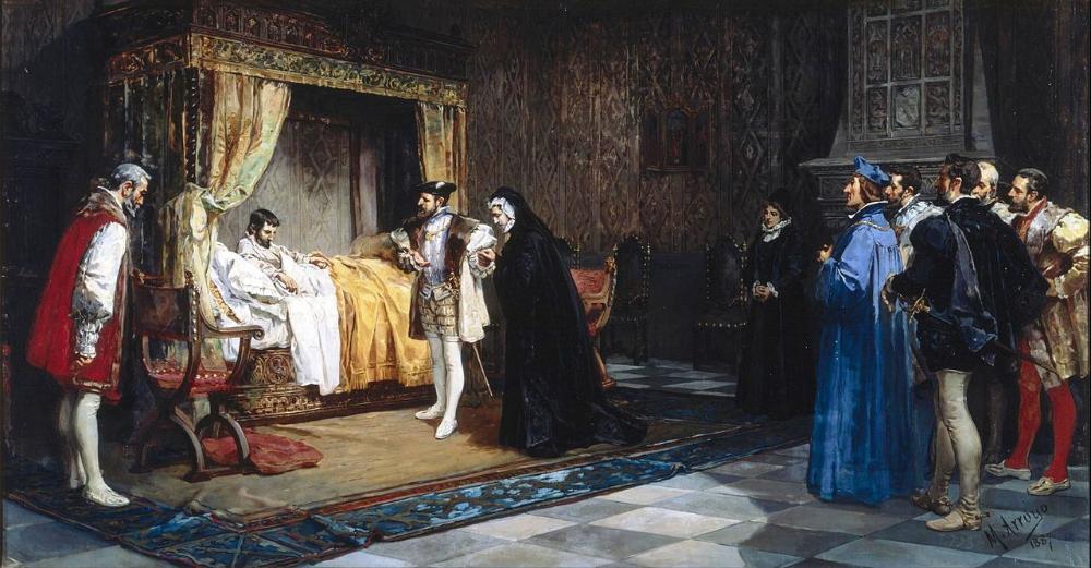 La Duquesa De Alençon Es Presentada A Su Hermano El Rey De Francia Francisco I Por El Emperador Carlos V Museo Francis I 19th Century Paintings Virtual Art