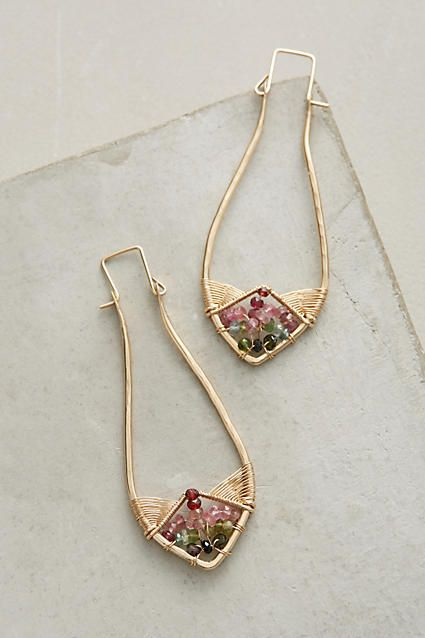 Crystalline Dreamcatcher Earrings - anthropologie.com