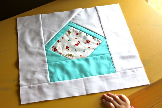 envelope quilt square