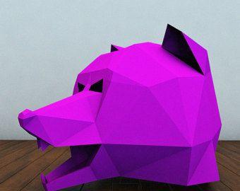 cougar or panther mask panther full mask paper от lamaluna