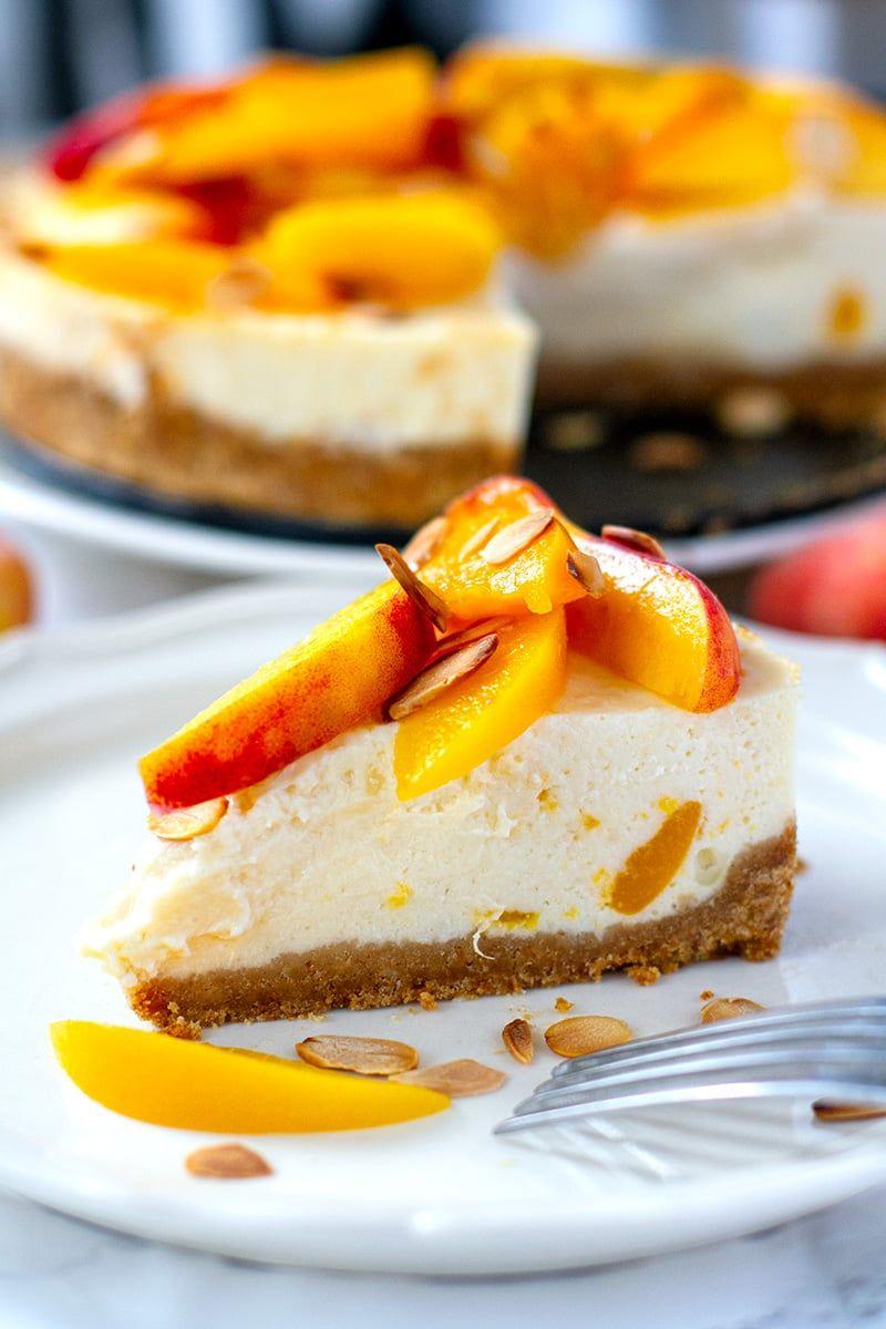 Instant Pot Peach Cheesecake (Light & Healthy ) Recipe