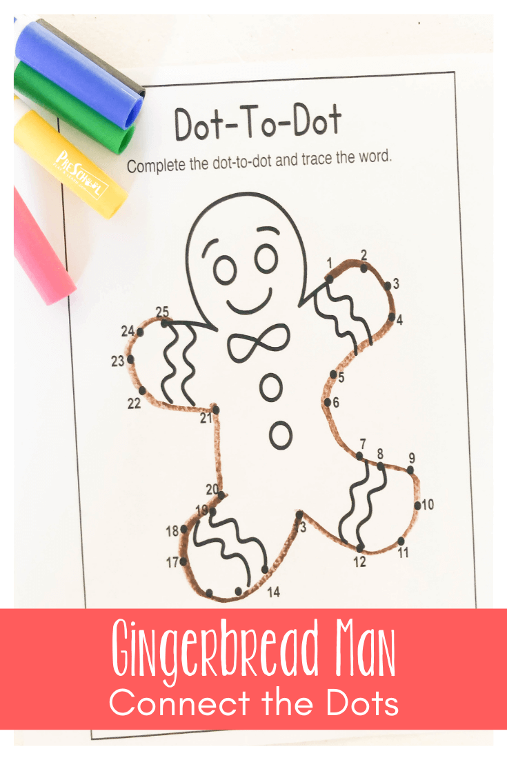 Kids Love Doing Connect The Dots Worksheets This Free Printable Connect Gingerbread Man Activities Preschool Christmas Worksheets Gingerbread Man Kindergarten [ 1102 x 735 Pixel ]