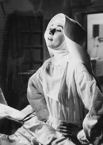 Audrey Hepburn during the filming of 'The Nun's Story', 1959. S)