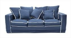 Best Sofa Navy With White Piping With Images Navy Couch 400 x 300