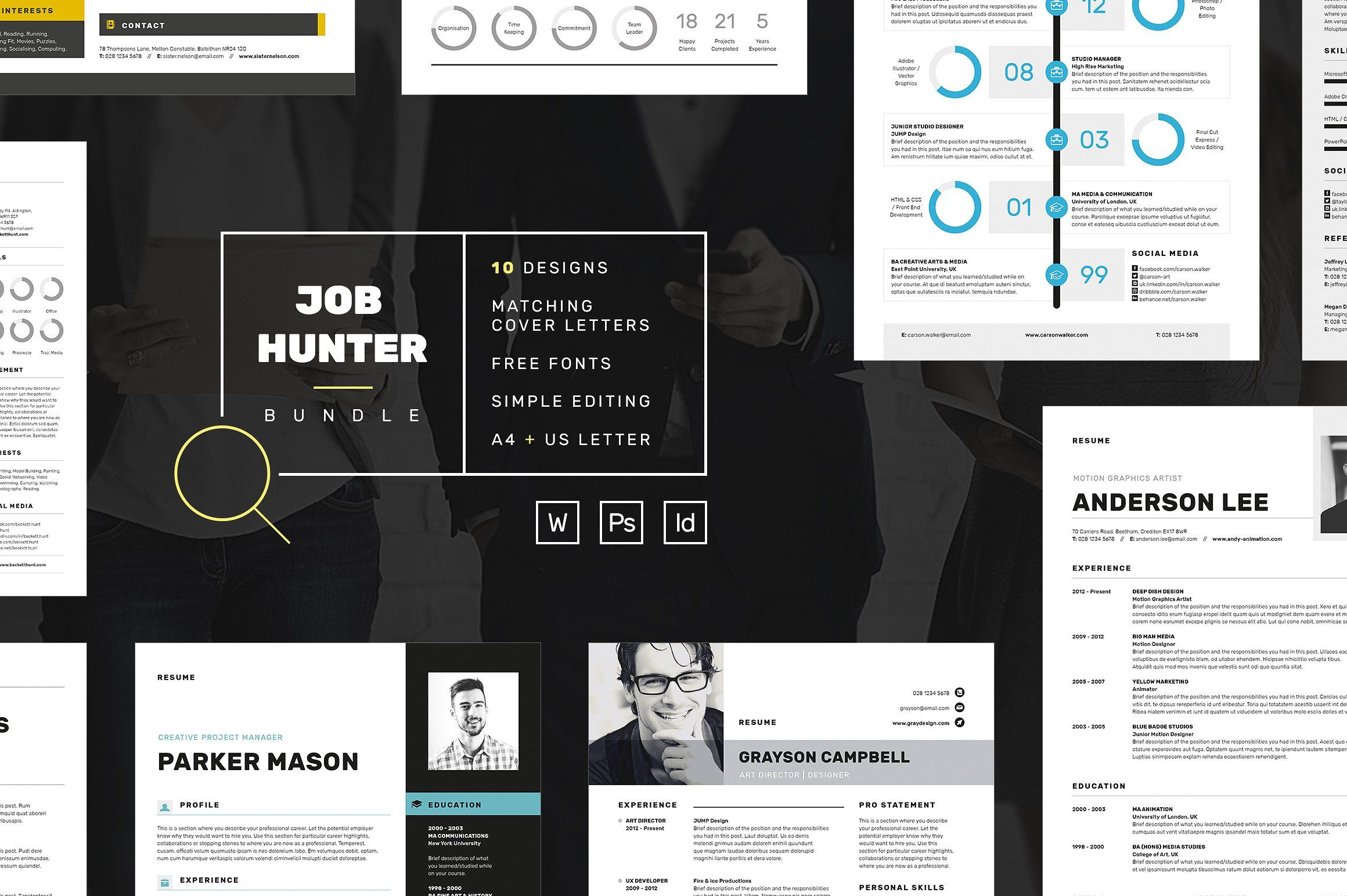 JOB HUNTER - Resume/CV Bundle
