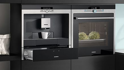 siemens coffee machine warming drawer and oven. Black Bedroom Furniture Sets. Home Design Ideas