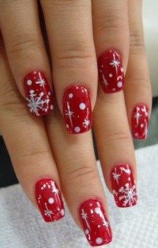 The chic bizarre effect fun christmas nail art ideas nail art fun christmas nail art idea would be cute on just one nail prinsesfo Choice Image