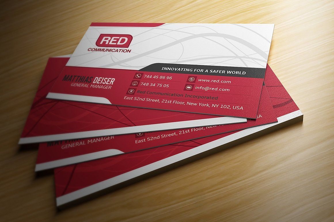 Red business card business cards card templates and business red business card business card templates accmission Choice Image