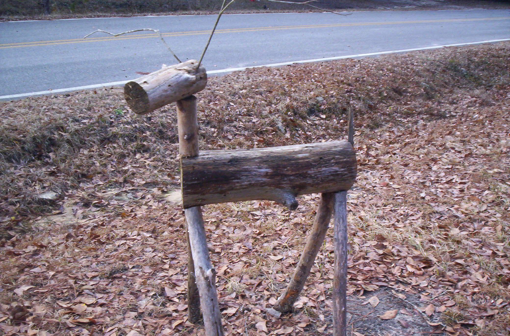 Deer Lawn Ornaments From Fallen Trees